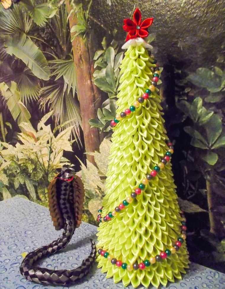 manualidades navidad ideas invierno arbol navidad verde tela - Arbol De Navidad De Tela