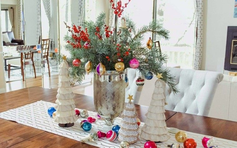 manualidades navidad ideas arboles navidad tela invierno