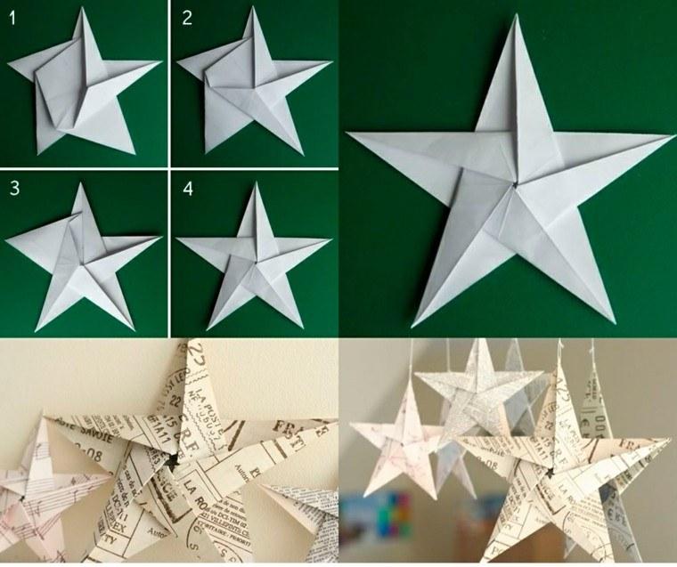 manualidades navidad ideas estrella periodico papel