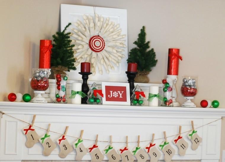 manualidades navidenas decoracion hecha casa chimenea ideas