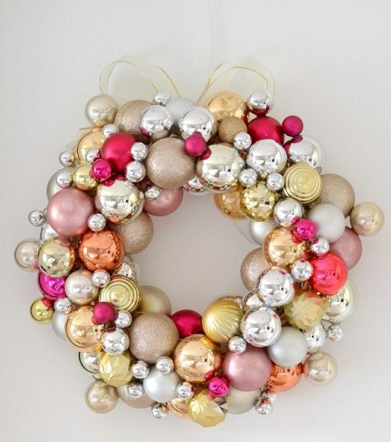 navidenas decoracion hecha casa guirnalda bolas ideas