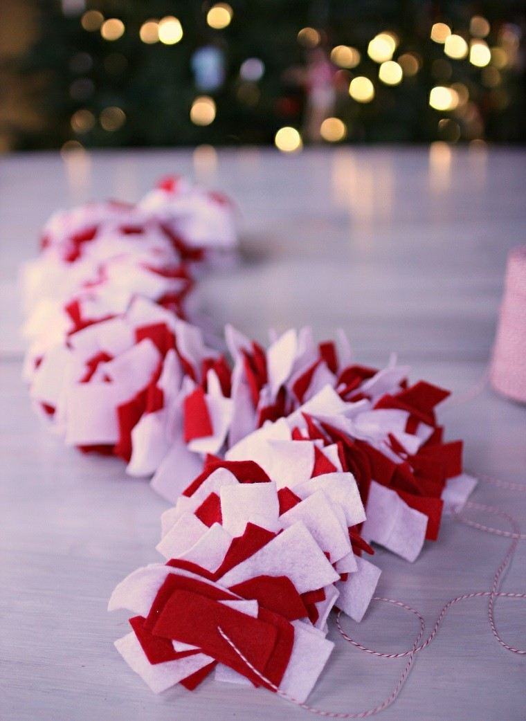 manualidades navidenas decoracion hecha casa guirnalda ideas