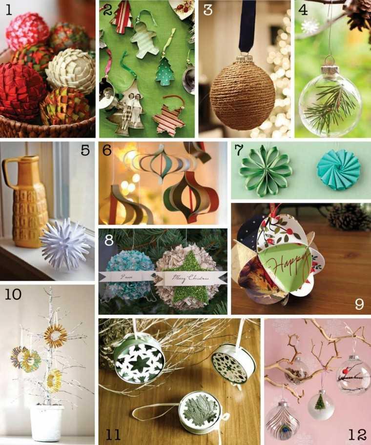 manualidades navidenas decoracion hecha casa varias opciones ideas