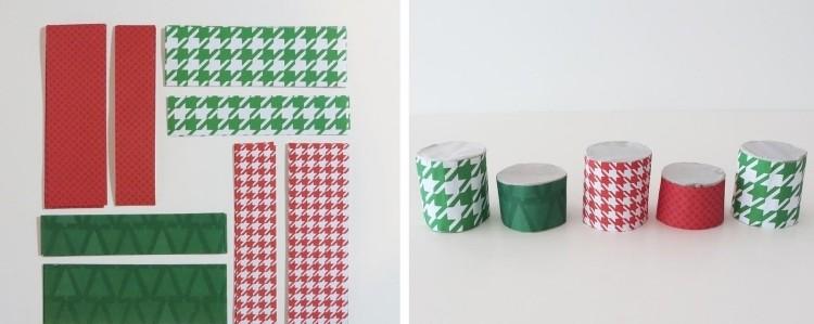 manualidades reciclaje detalles verde rojo navidad