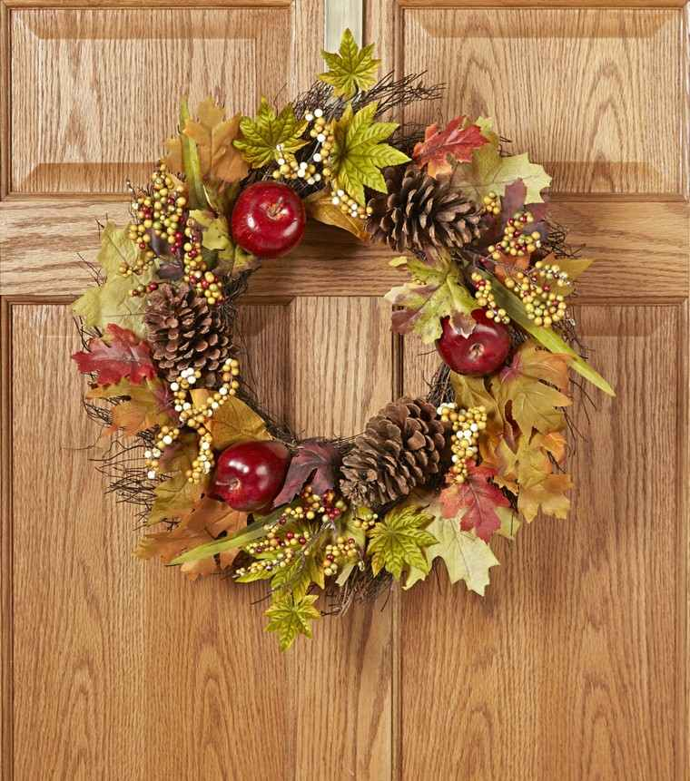 manzana decoracion estilo conos pinos