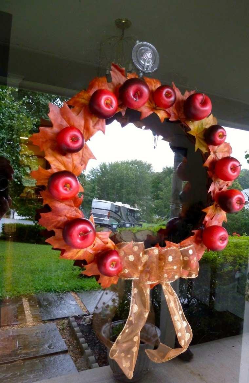 manzana decoracion estilo lazos cristales