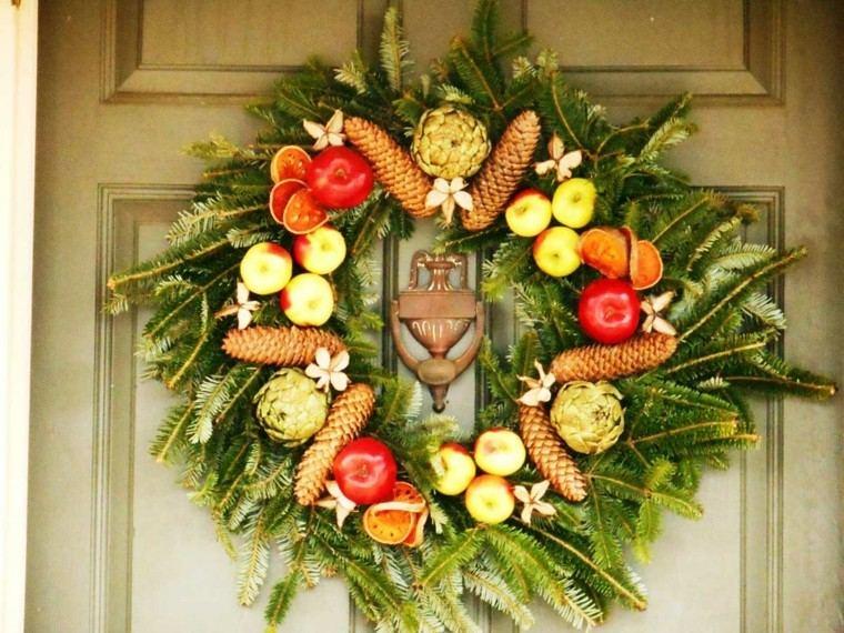 manzana decoracion estilo puerta madera
