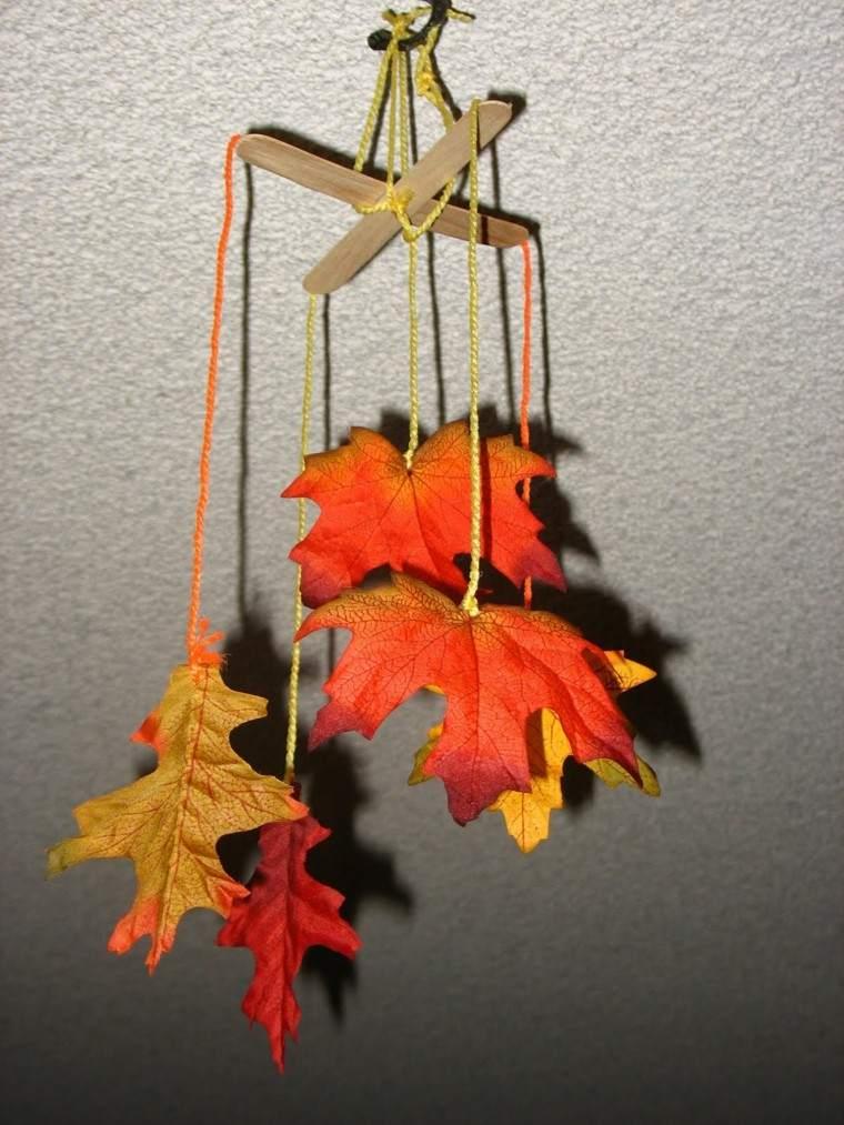 marioneta hojas secas colgantes