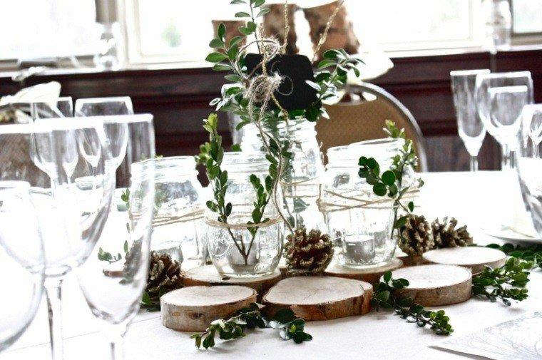 material natural decoracion invierno estilo rustico pinas ideas