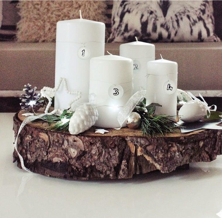 material natural decoracion invierno madera pina ideas