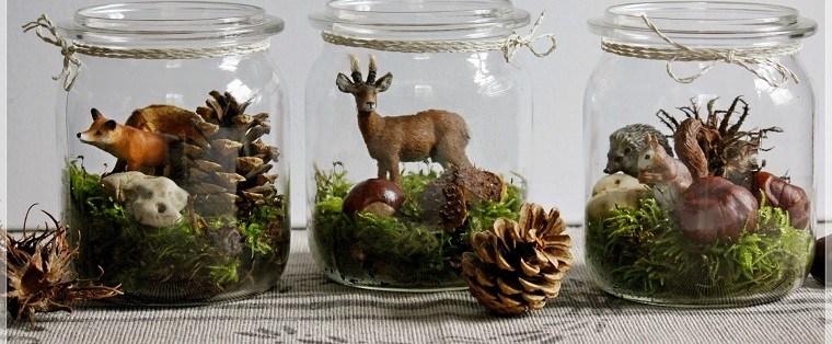 material natural decoracion invierno tarros cristal ideas