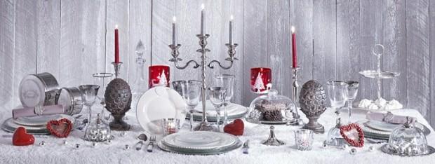 mesa banquete navidad color gris