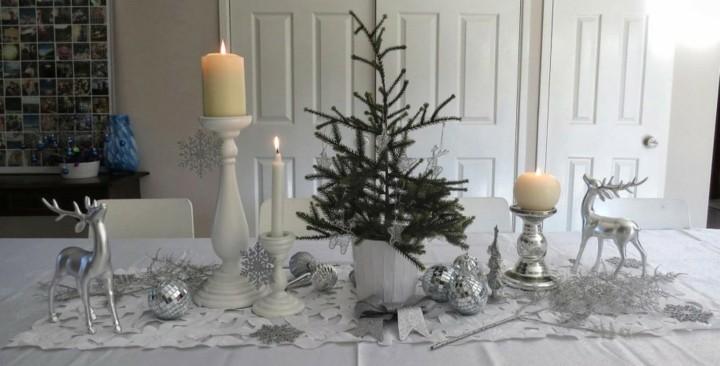 mesa navidad centro abeto natural
