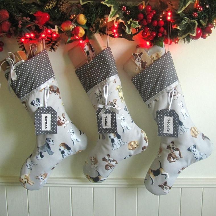medias navidad-estampados perritos etiquetas