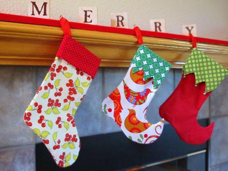 medias navidad original diseño colores