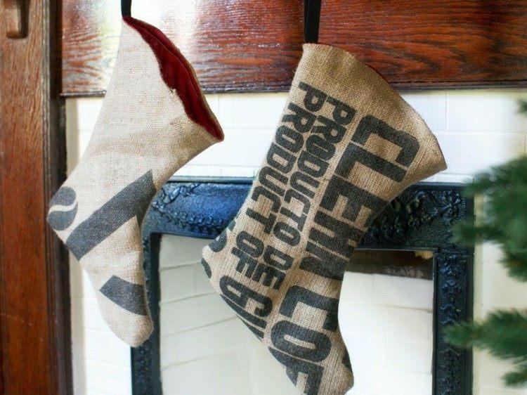 medias yute saco puerta madera