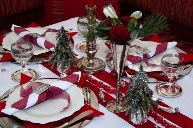 mesa navidad color blanco