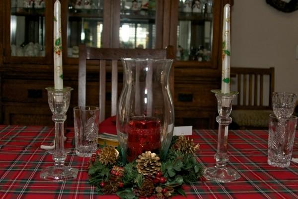 mesa clasica decoración navidad