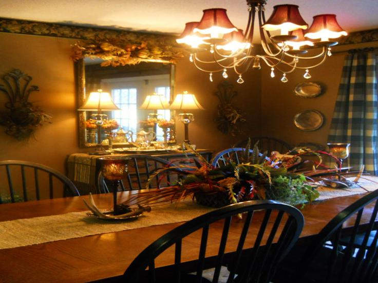 mesa comedor centro otoño