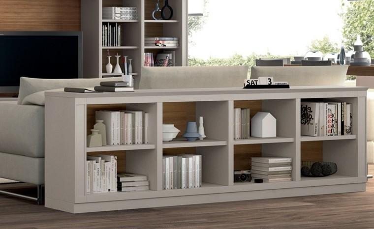 Mesas consolas detras del sof 35 ideas para el sal n - Mesas de salon blancas ...