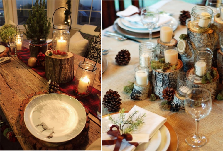 decoracion rustica para estas navidades