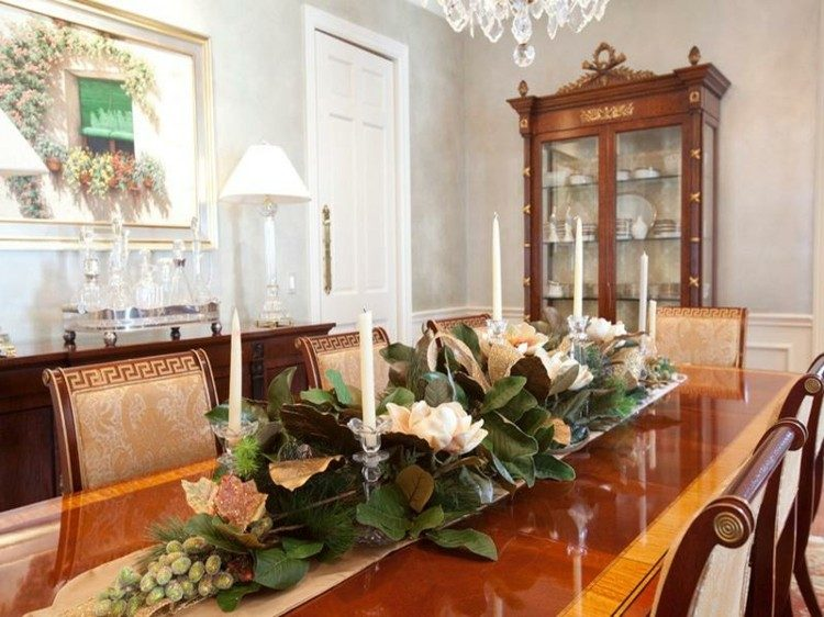mesa decorado elegante hojas elegante