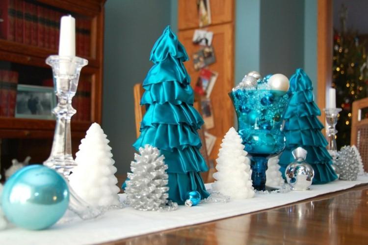 mesa navidad color azul turquesa