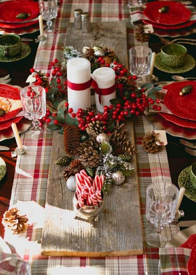 decoración navidad velas blancas
