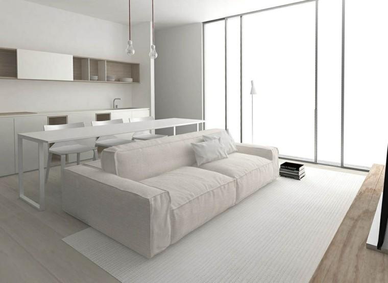 Mesas consolas detras del sofá: 35 ideas para el salón -