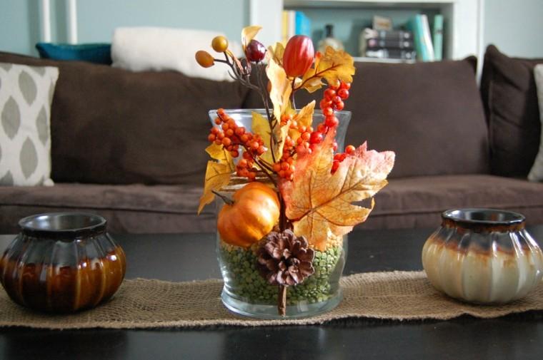 mesas de centro cojines hojas yute