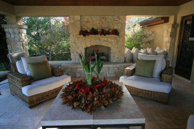 mesas de centro hojas secas sillones