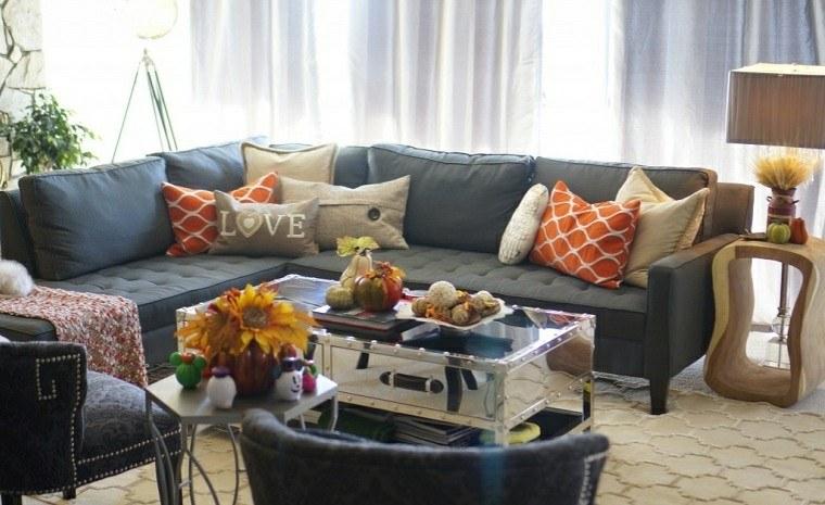 mesas de centro plantas muebles cortinas