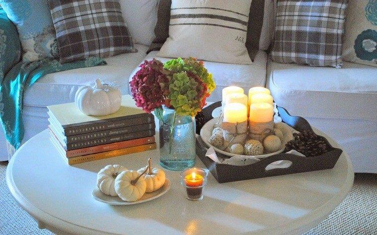 mesas de centro romantica cuadros vela