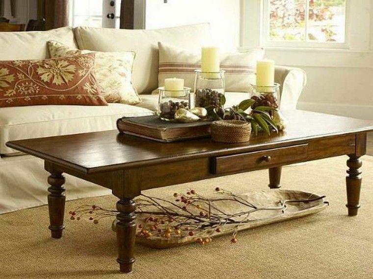 mesas de centro salon otoño alfombra