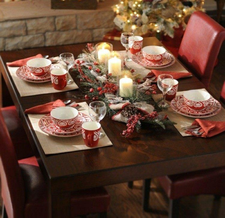 mesas de comedor diseño navideño sillas
