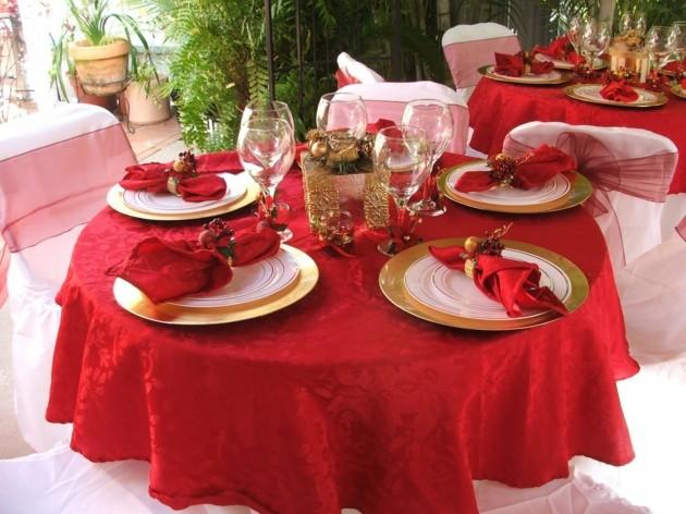 mesas de jardin decoradas navidad