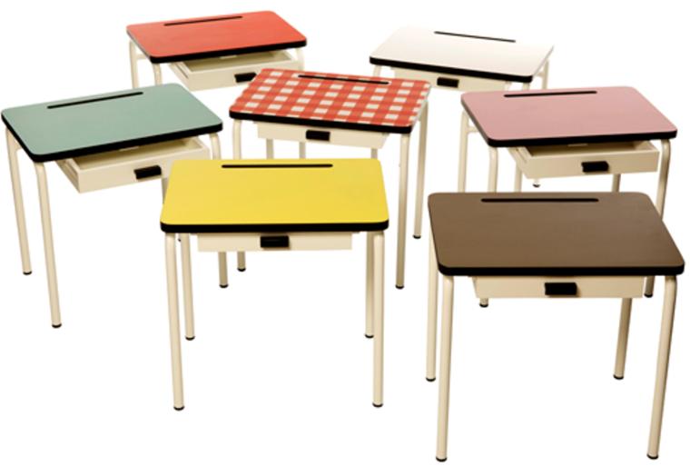 mesas escritorios juveniles estilo retro
