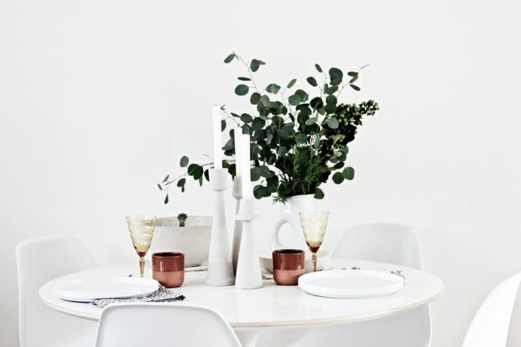 minimalista mesa decoracion estilo vajillas blanco