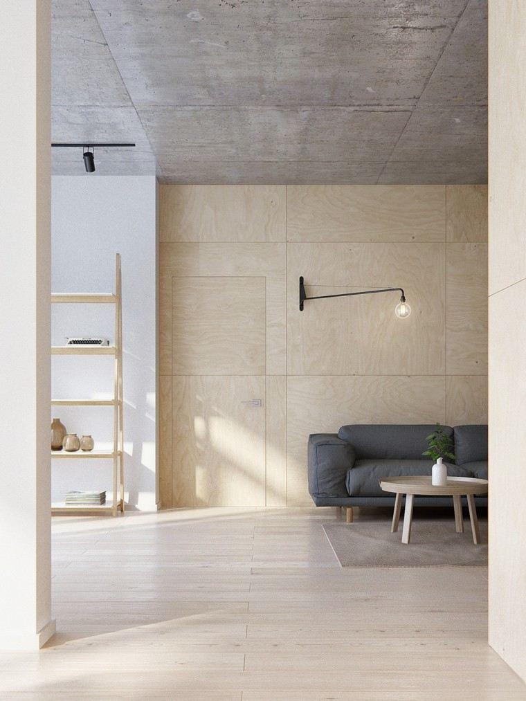 minimalista moderno apartamento mesa calido