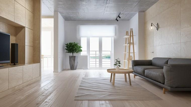minimalista moderno apartamento plantas plantas
