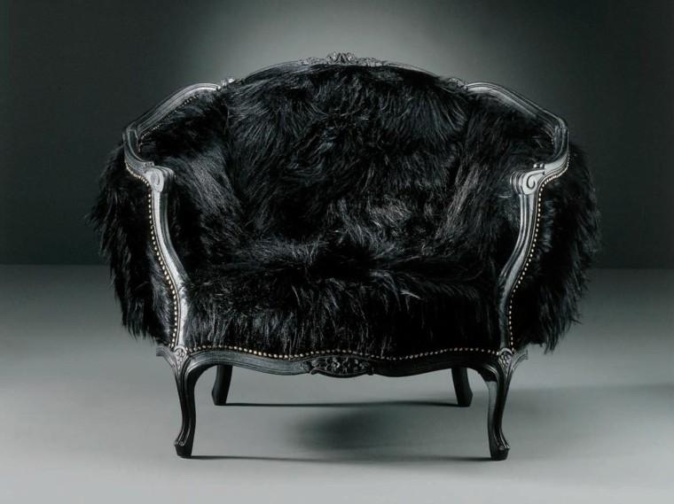 mobiliario ideas creativas elegante asiento negro
