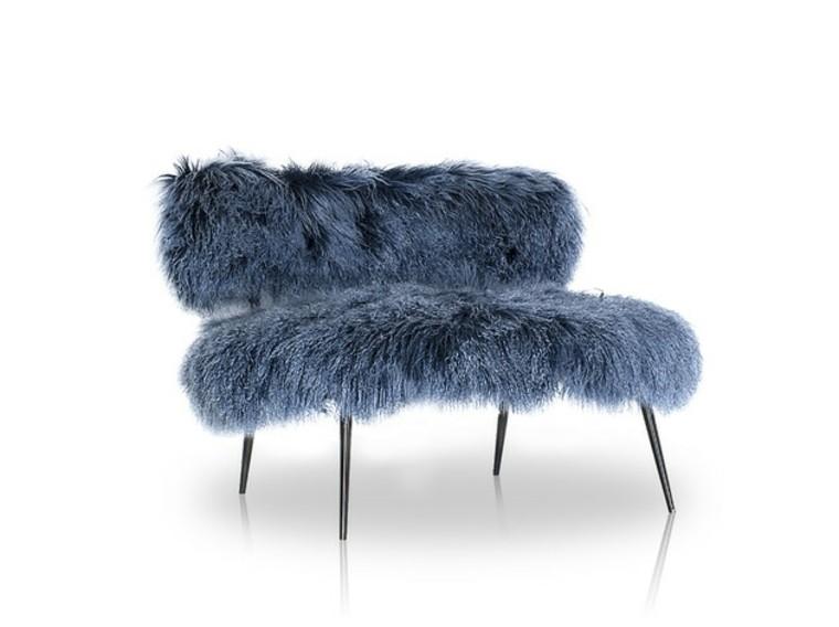 mobiliario ideas creativas invierno azulado sillon