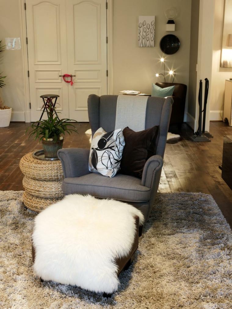 mobiliario ideas creativas invierno puerta alfombra