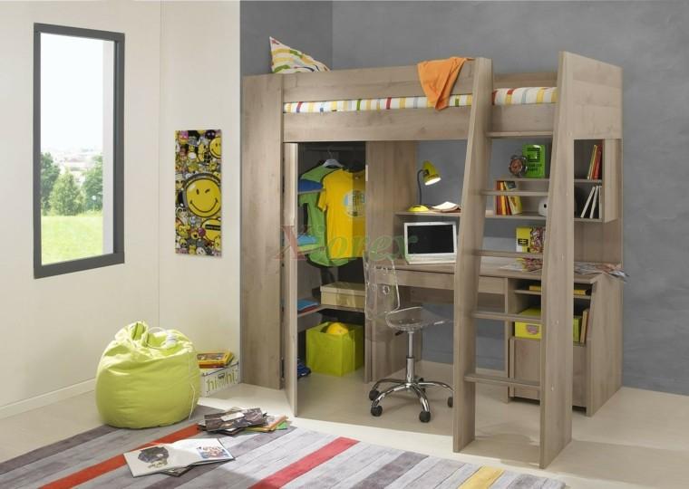 módulo cama escritorio infantil
