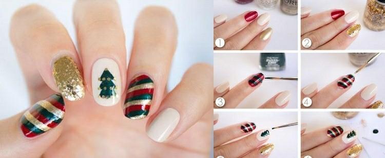 motivos navideños uñas pintadas diseños
