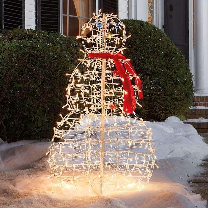 muñeco nieve esqueleto luces