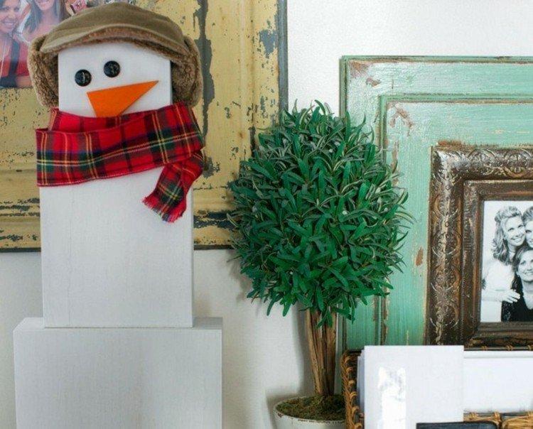 muñeco cajas estilo bufanda nieve