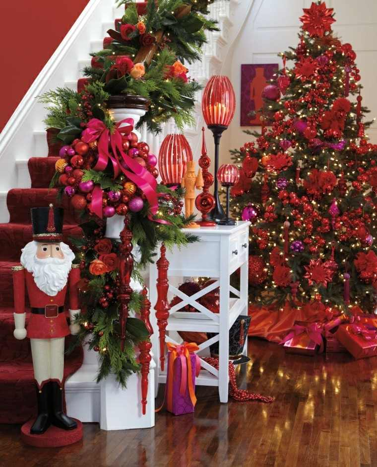 ideas para decorar escaleras rojo