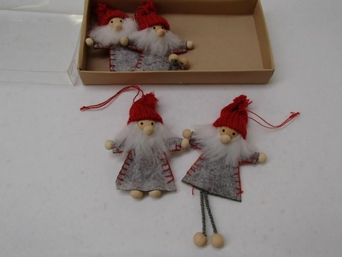 muñecos adornos abeto navidad gris