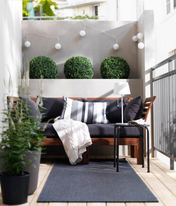 balcon diseño pequeño diseño decorado blanco